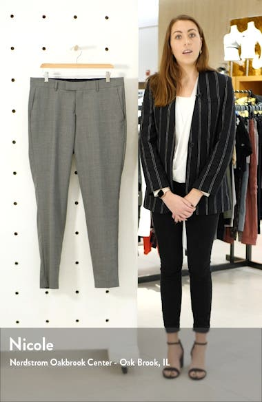 Flat Front Solid Wool Trousers, sales video thumbnail