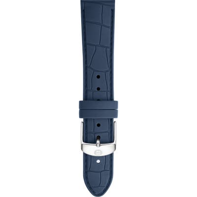 Michele 1m Croc Embossed Silicone Watch Strap