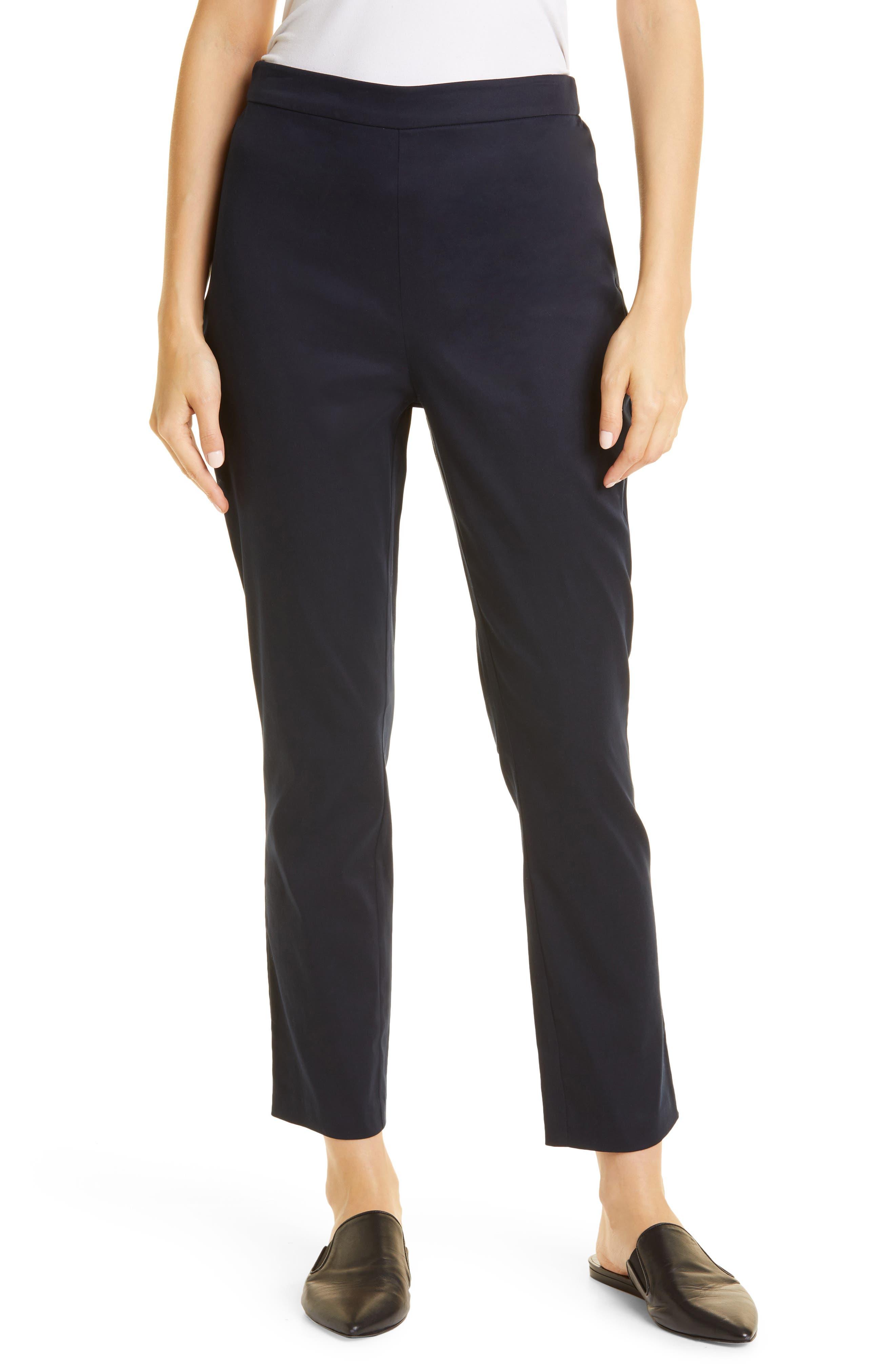 Stretch Poplin Slim Trousers