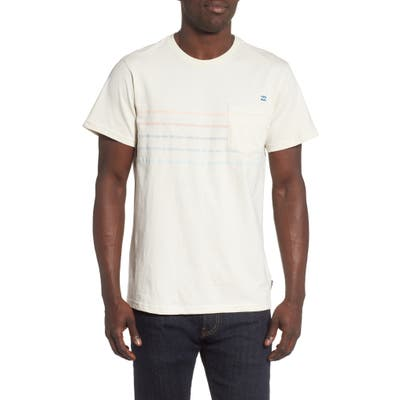 Billabong Spinner Reverse Stripe Pocket T-Shirt, Beige