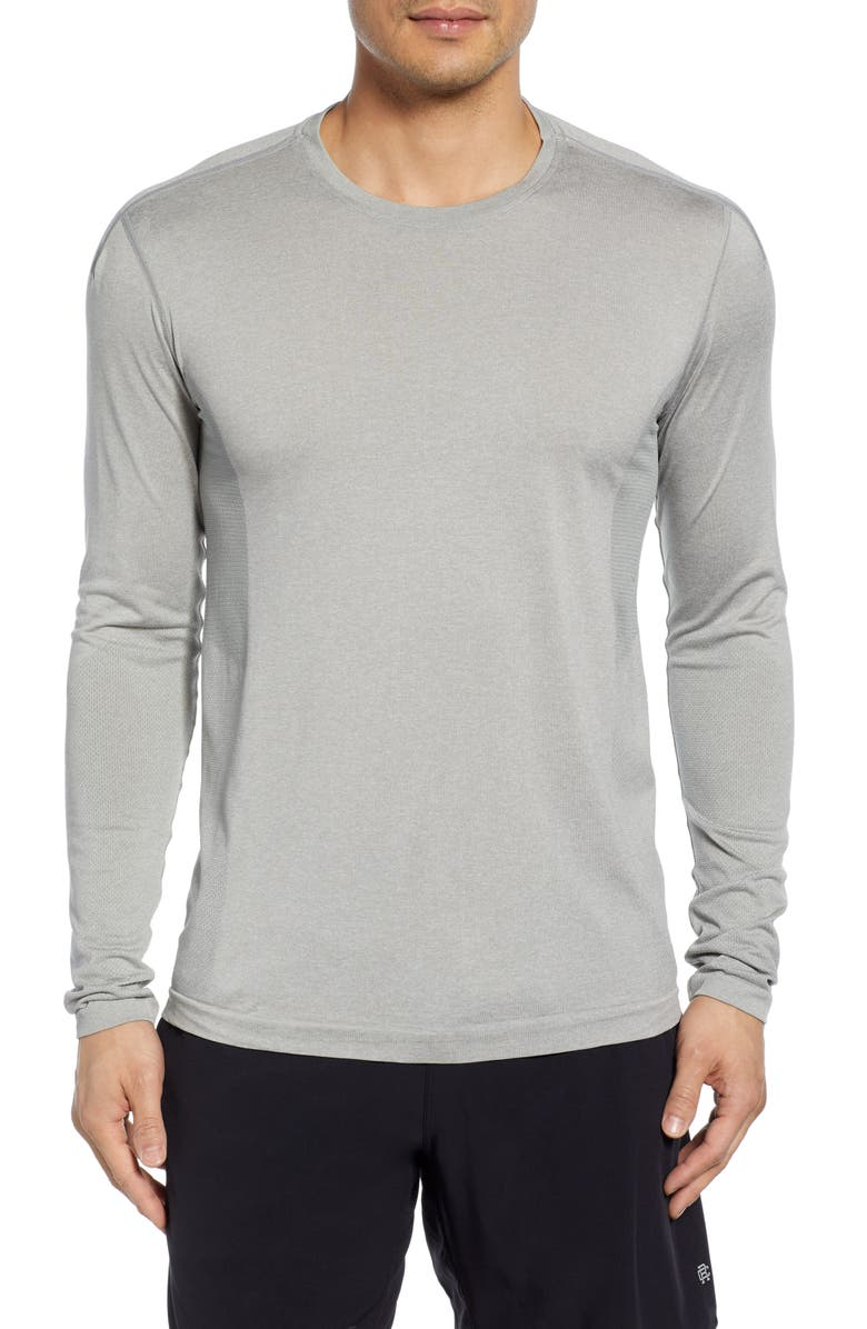 REIGNING CHAMP Long Sleeve Performance T-Shirt, Main, color, 035