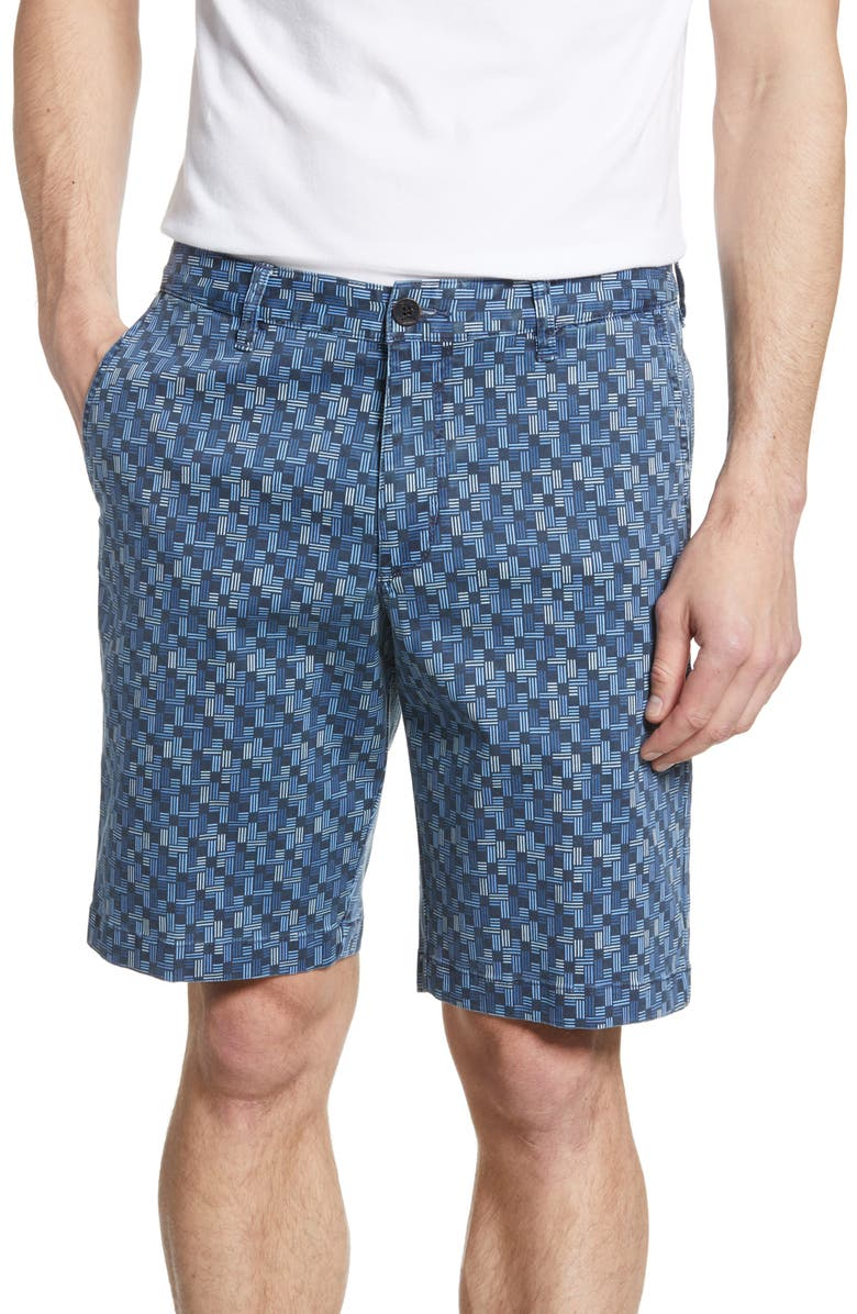 TOMMY BAHAMA Oh My Geo Shorts, Main, color, BLUE NOTE