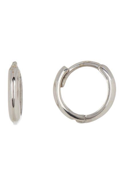 Image of Candela 14K White Gold 11mm Huggie Earrings