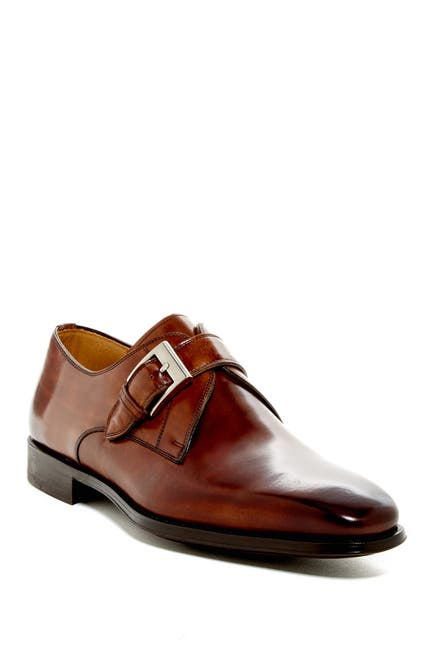 Image of Magnanni Tudanca Leather Monk Strap Dress Shoe - Wide Width Available