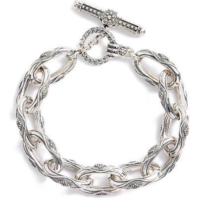 Konstantino Trillion Etched Open Link Bracelet