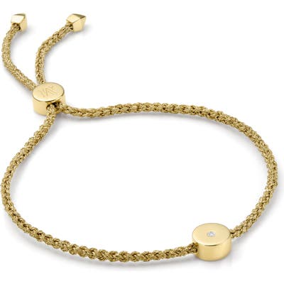 Monica Vinader Linear Solo Diamond Friendship Bracelet
