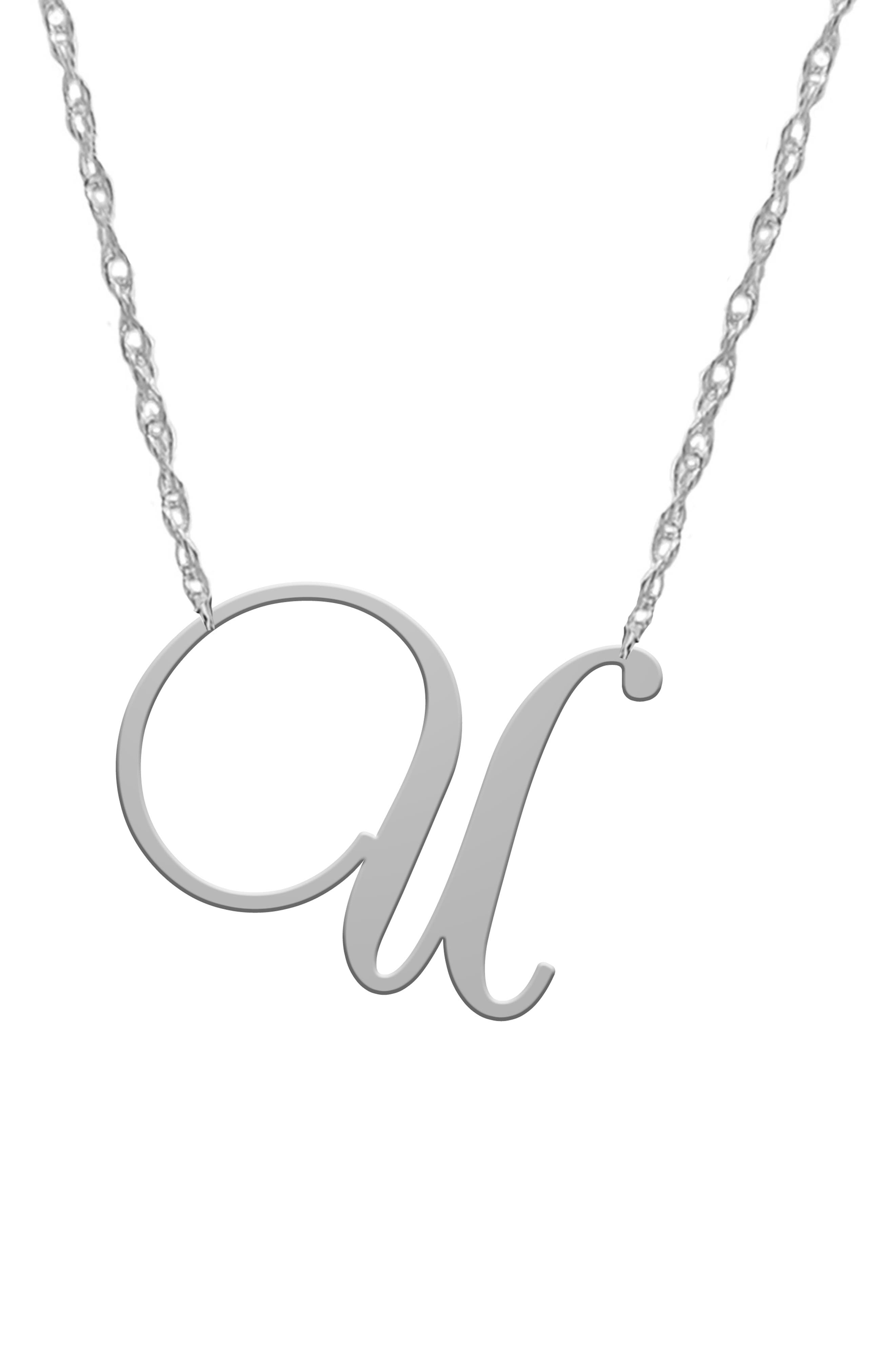 Swirly Initial Pendant Necklace