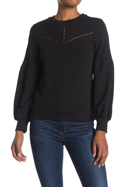 Image of Parker Normani Tonal Embroidered Sweatshirt