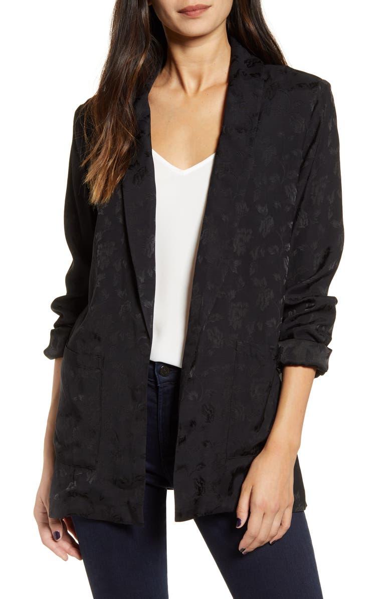 CHELSEA28 Jacquard Shawl Collar Jacket, Main, color, 001