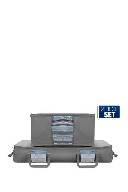 Image of Sorbus Storage Bag Clear Window & Carry Handle Organizer Set - Grey
