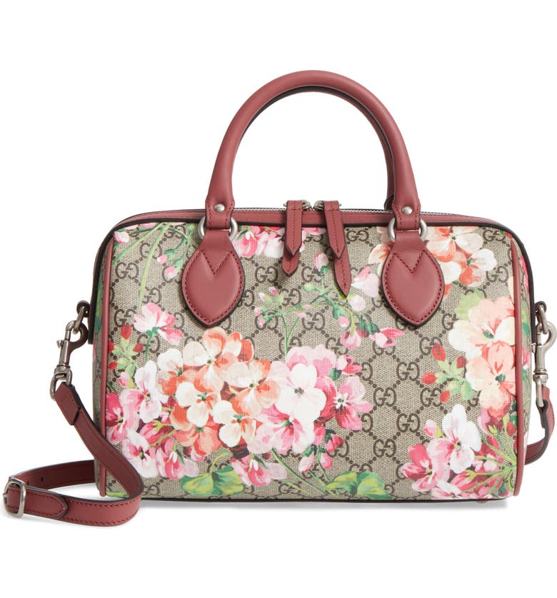 5cf1522ea Small Blooms Top Handle GG Supreme Canvas Bag, Main, color, 291