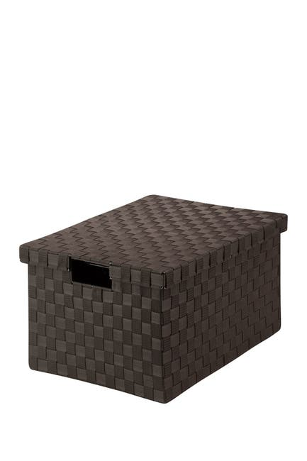 Image of Honey-Can-Do Large Espresso Woven File Box