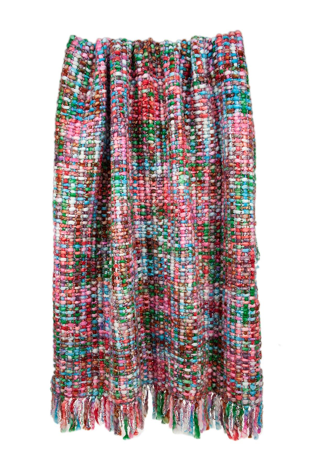 "Image of Parkland Collection Jaxson Transitional Multi 52"" x 67"" Woven Handloom Throw Blanket"