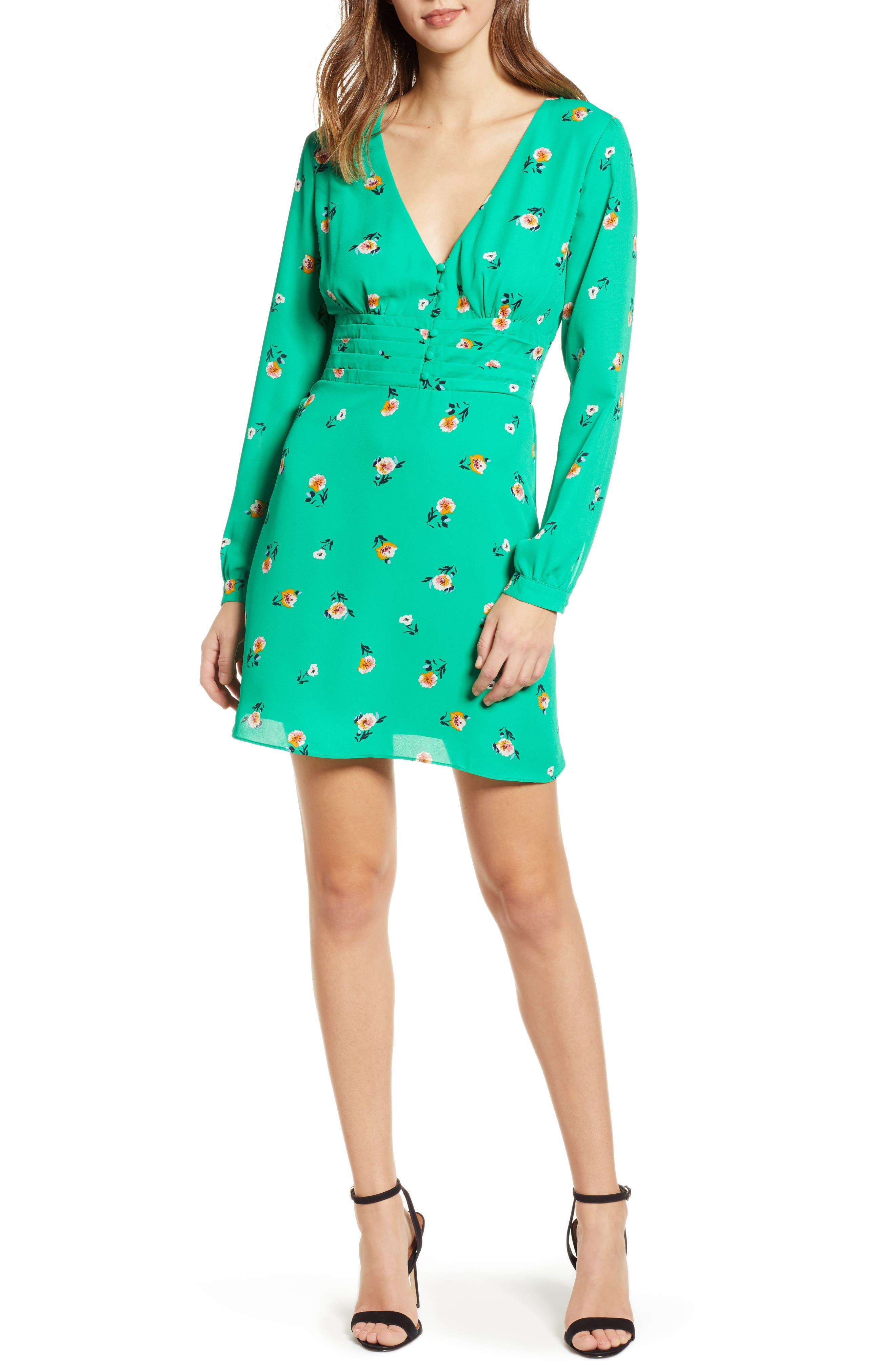 ,                             Print Button Dress,                             Alternate thumbnail 12, color,                             300
