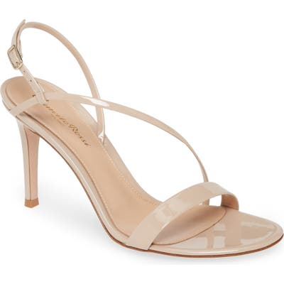Gianvito Rossi Asymmetrical Strap Sandal, Beige
