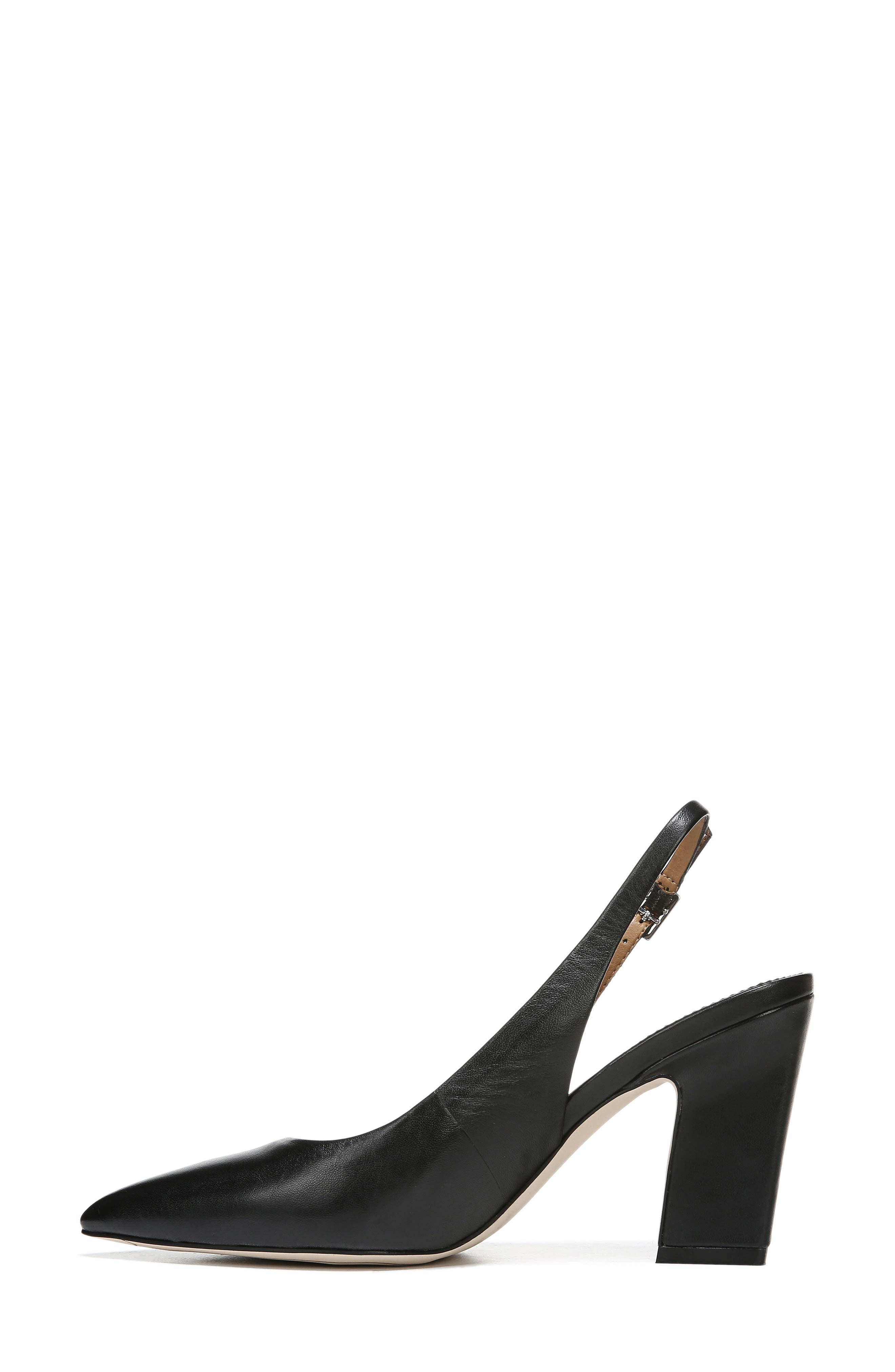,                             Sophie Pointy Toe Slingback Pump,                             Alternate thumbnail 8, color,                             BLACK PATENT LEATHER