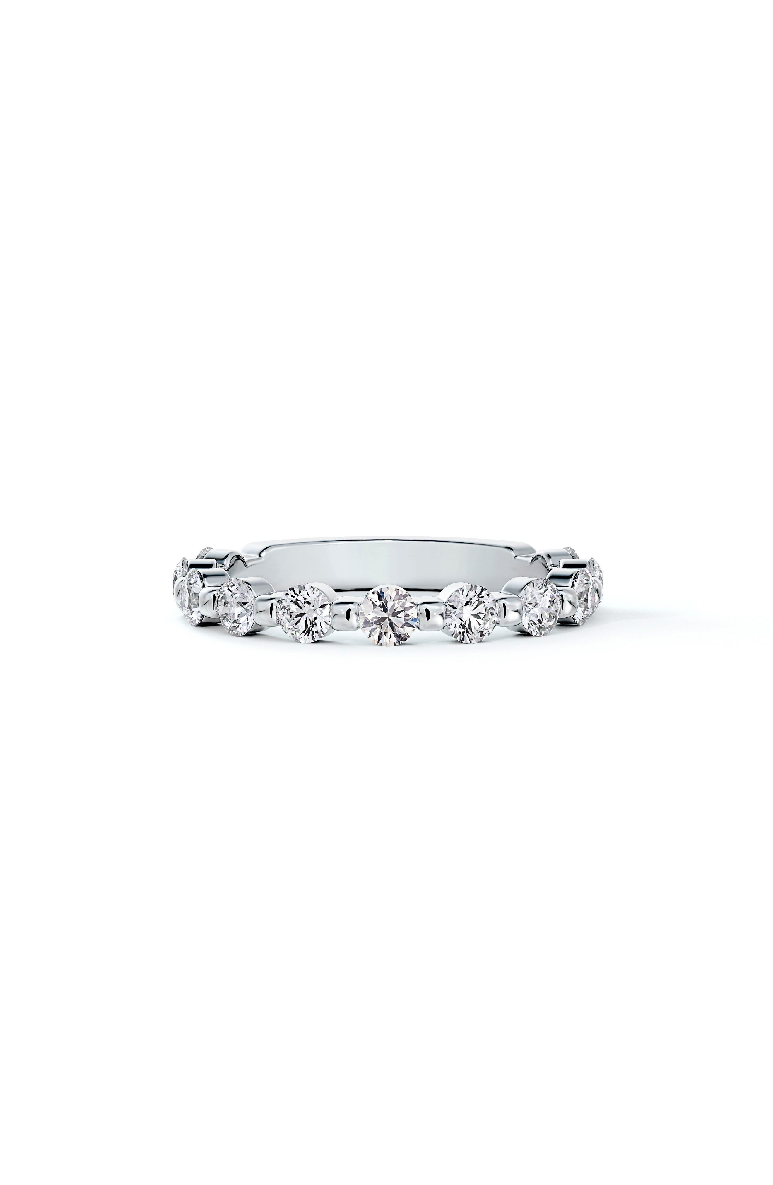 Engagement & Commitment Single Shared Prong Diamond Band
