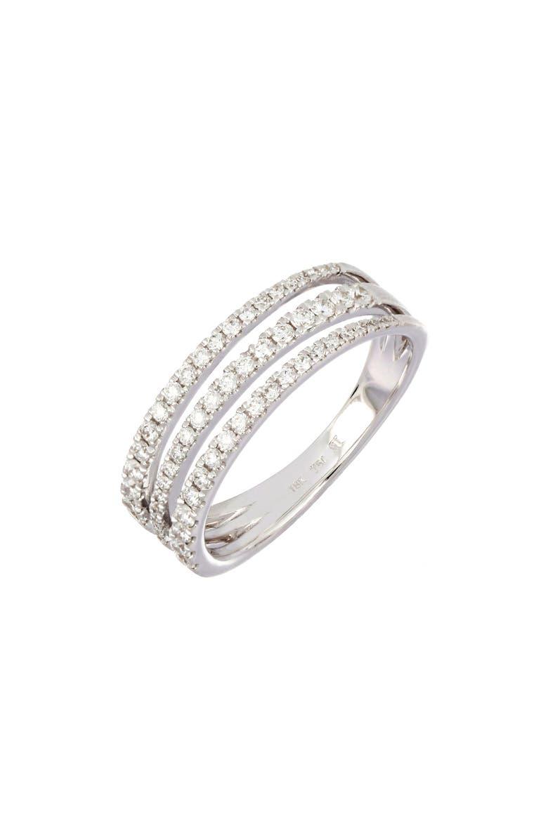 BONY LEVY Asymmetrical Three-Row Ring, Main, color, 711