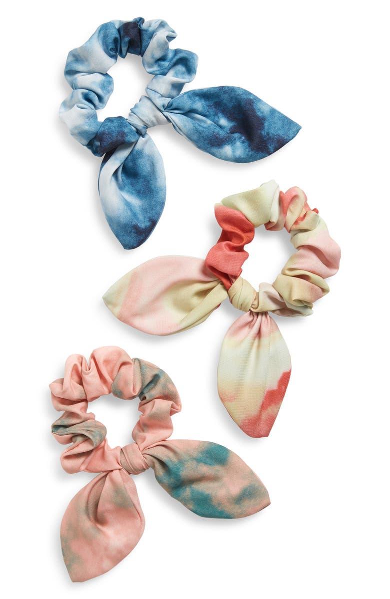 BP. 3-Pack Tie Dye Hair Scrunchies, Main, color, MULTI COMBO