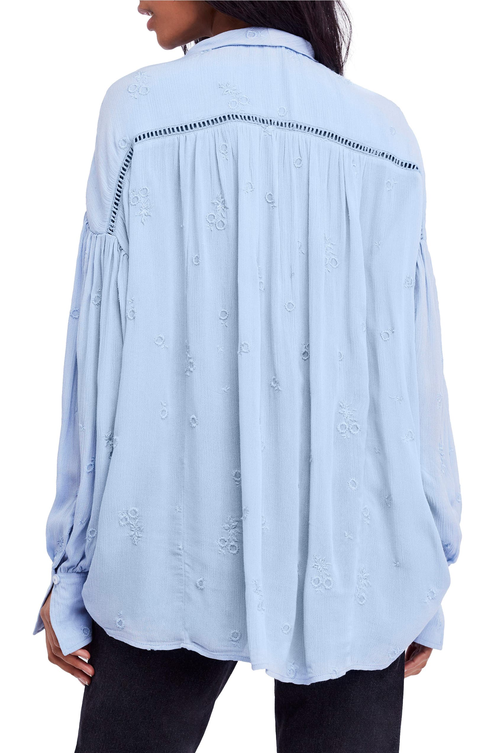 d44bbb4b328d58 Free People Wishful Moments Tie Neck Top   Nordstrom
