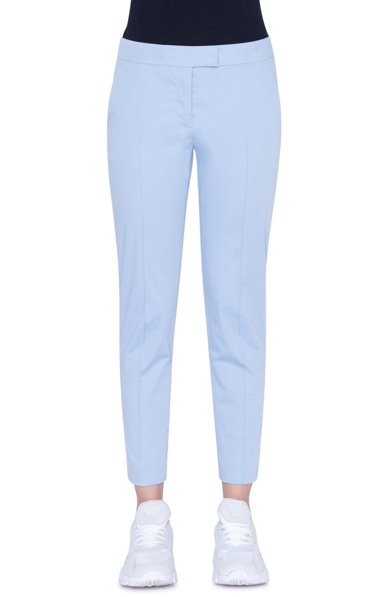 AKRIS PUNTO Frankie Slim Ankle Pants, Main, color, BLEACHED DENIM