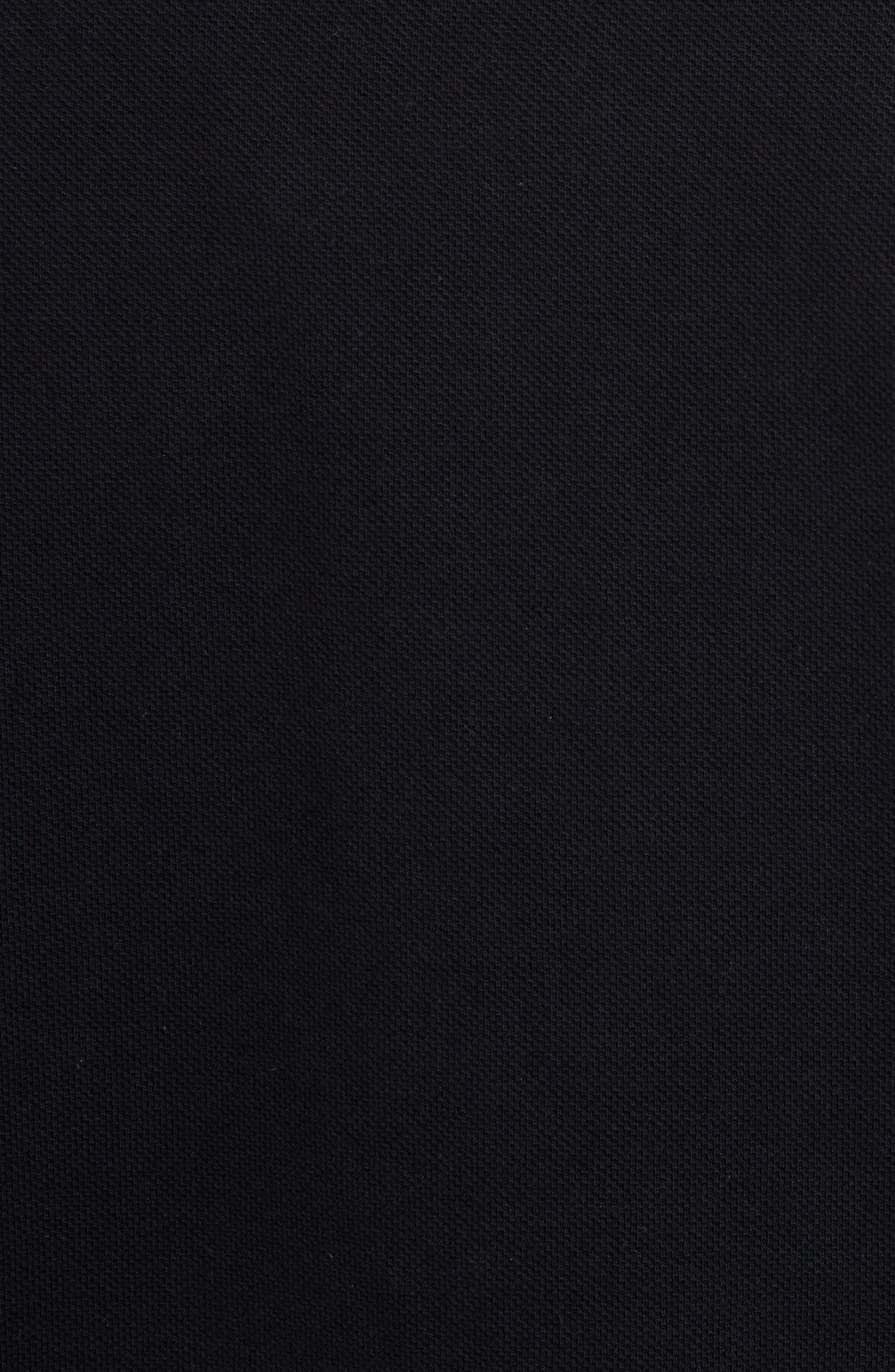 ,                             VLTN Logo Piqué Polo,                             Alternate thumbnail 5, color,                             BLACK/ WHITE