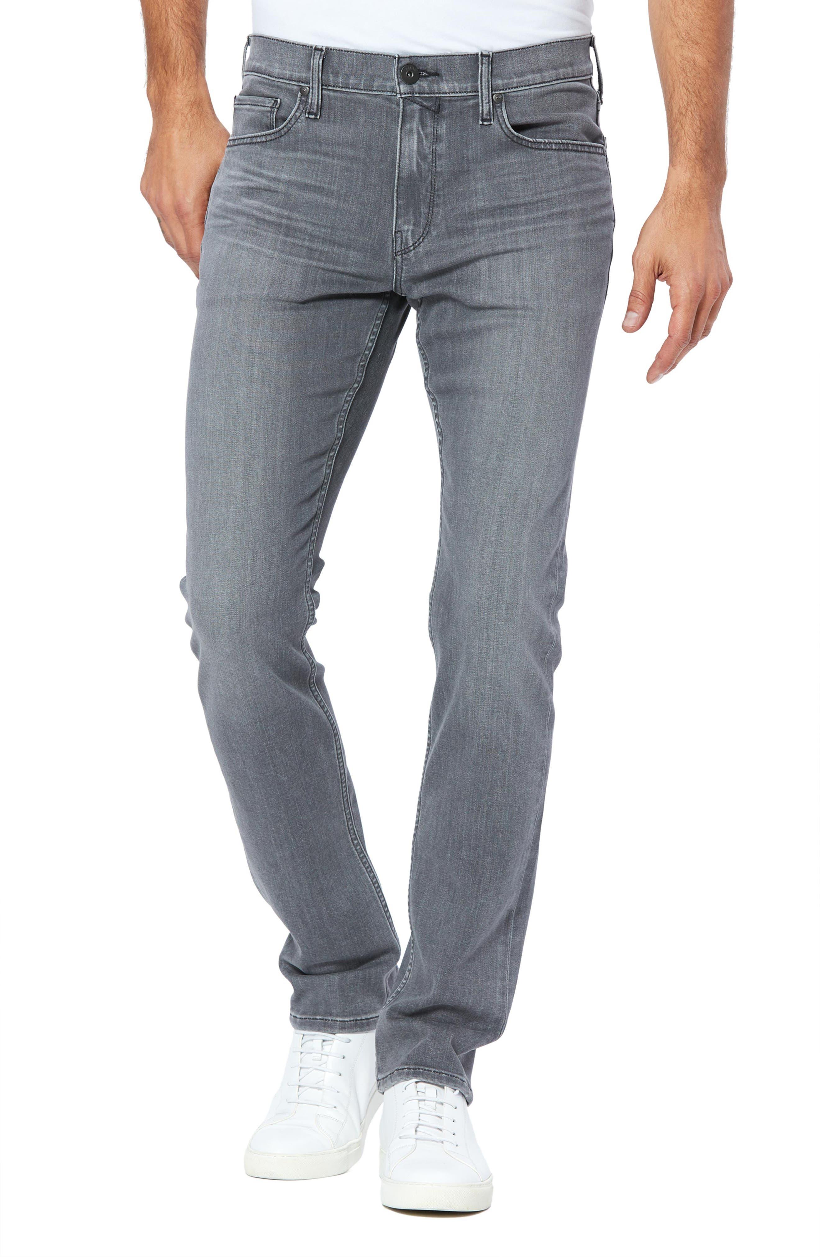 Men's Paige Transcend Federal Slim Straight Leg Jeans,  29 - Grey