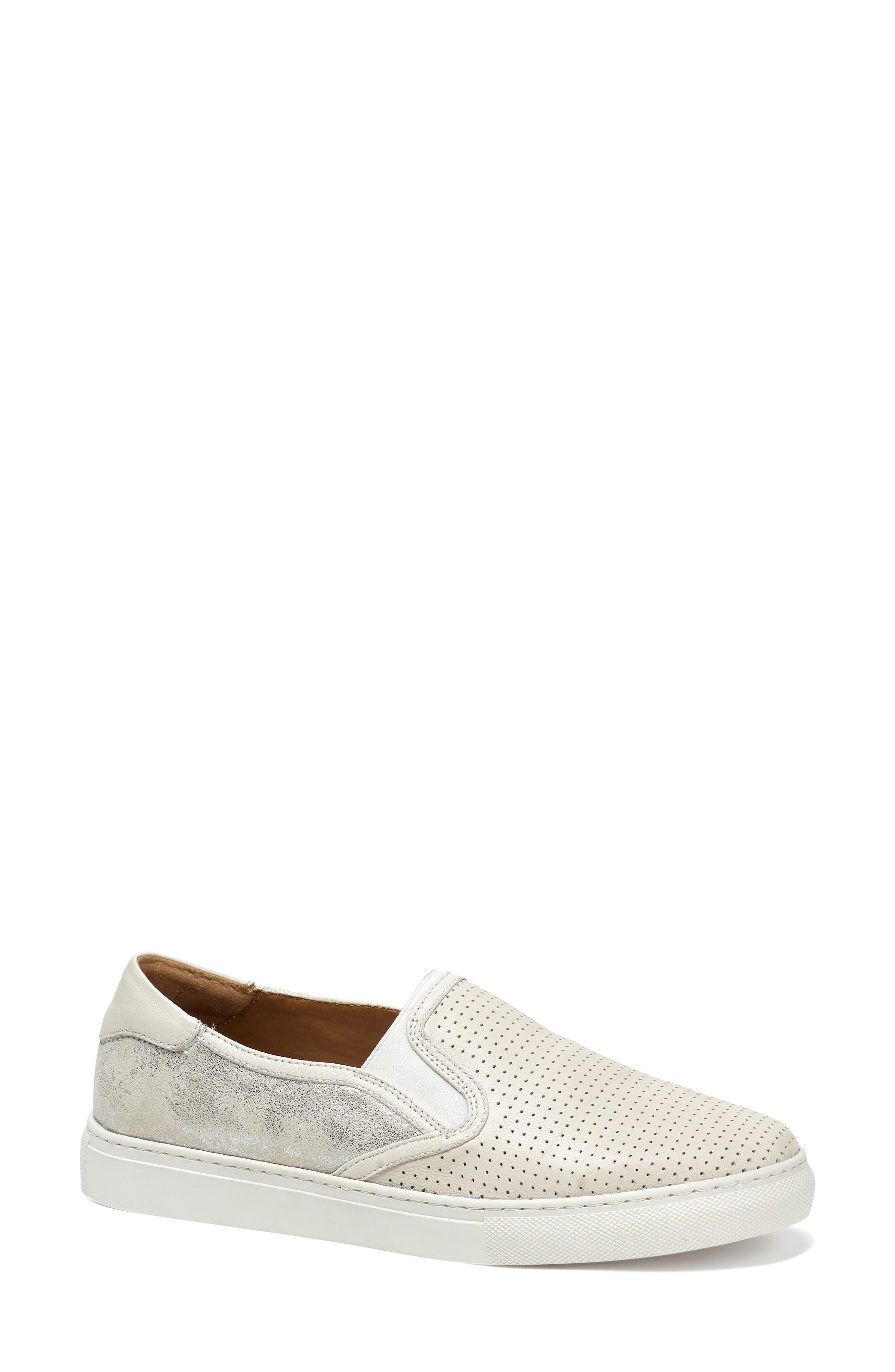 Trask Lillian Water Resistant Slip-On Sneaker- Ivory