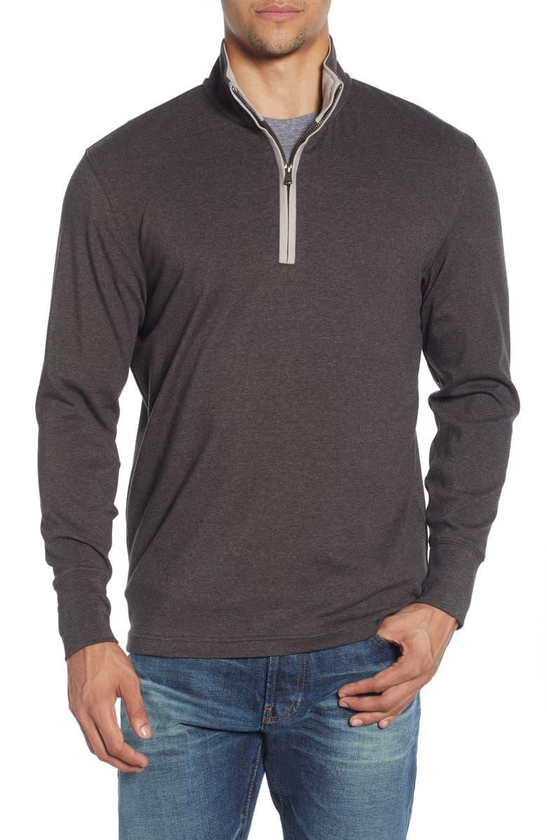 THE NORMAL BRAND Puremeso Quarter Zip Pullover, Main, color, 010