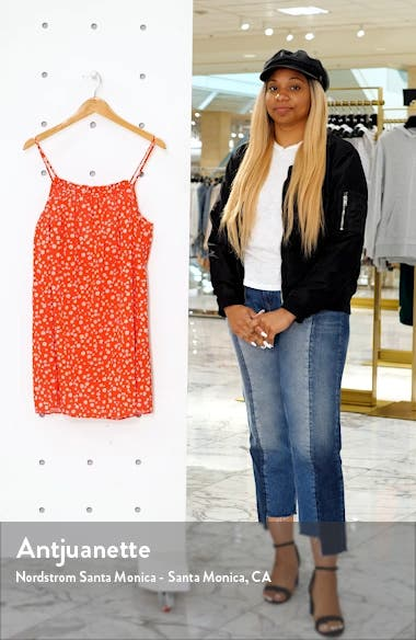 Daisy Field Ruffle Neck Cover-Up Minidress, sales video thumbnail