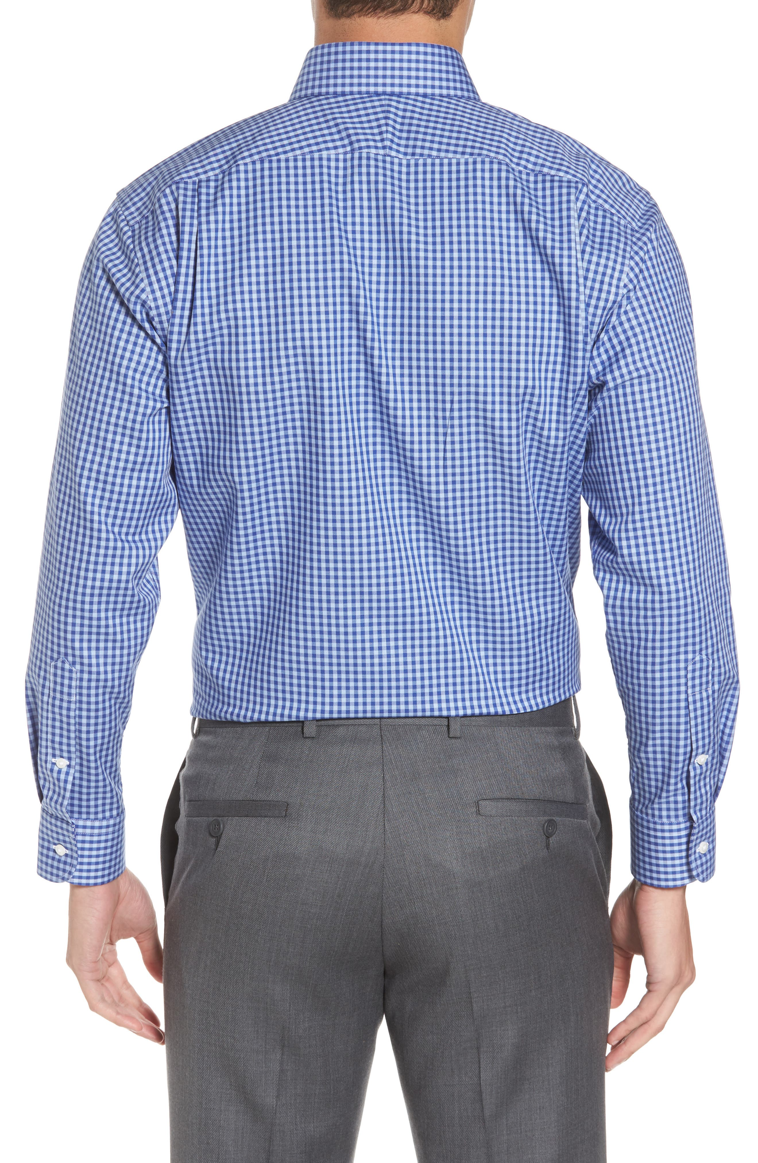 ,                             Traditional Fit Non-Iron Gingham Dress Shirt,                             Alternate thumbnail 56, color,                             421