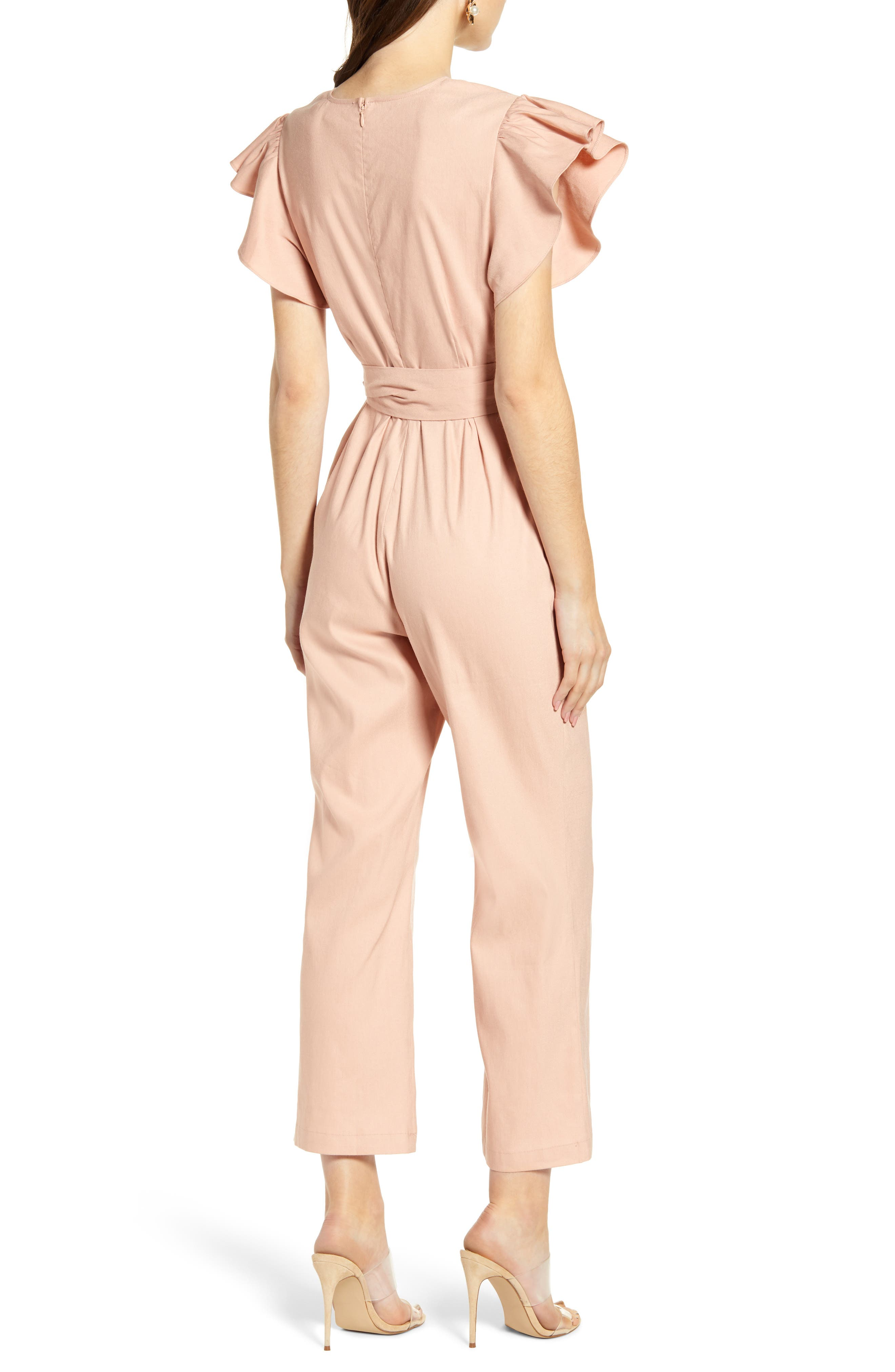 ,                             Ruffle Sleeve Jumpsuit,                             Alternate thumbnail 2, color,                             680