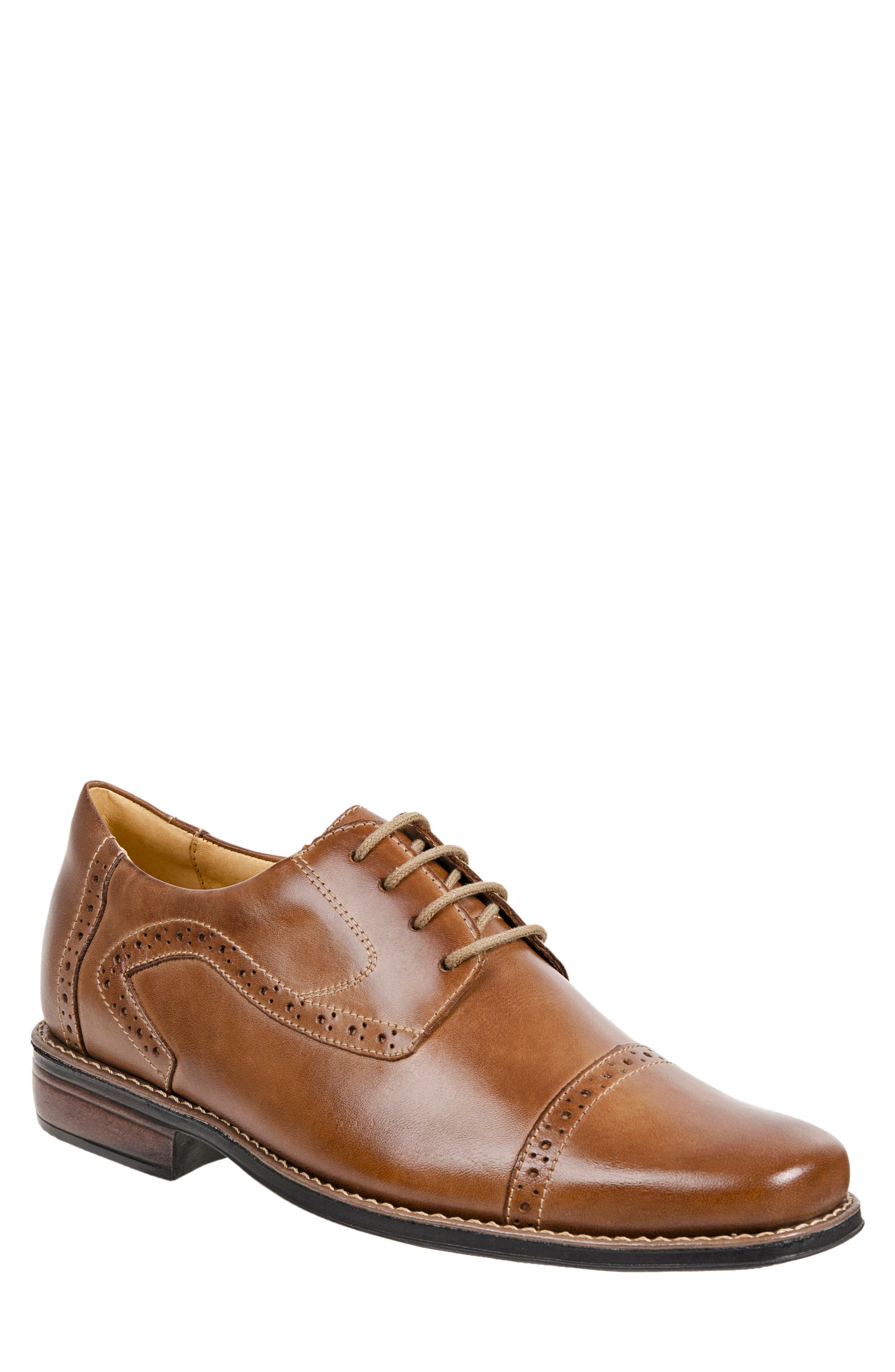 Meticulous tonal topstitching and welt detailing define a handsome oxford shaped from supple leather and clad in classic brogue stamping atop the toe. Style Name: Sandro Moscoloni \\\'Bruce\\\' Oxford (Men). Style Number: 5107078 1. Available in stores.
