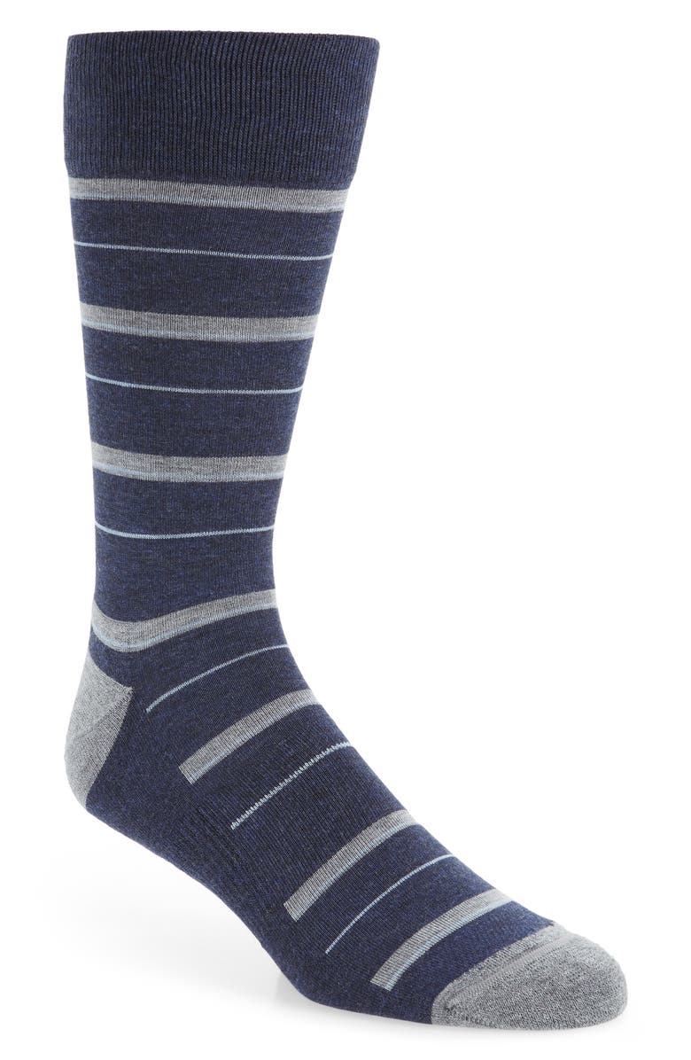 NORDSTROM MEN'S SHOP Thick & Thin Stripe Socks, Main, color, 410