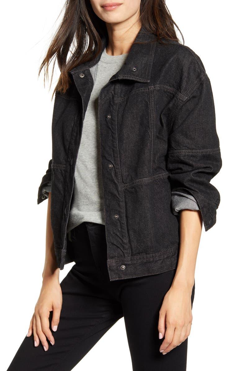 AG Kaya Oversize Denim Jacket, Main, color, MELODRAMA