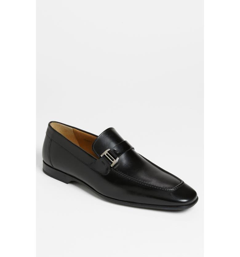 MAGNANNI 'Lino' Loafer, Main, color, BLACK