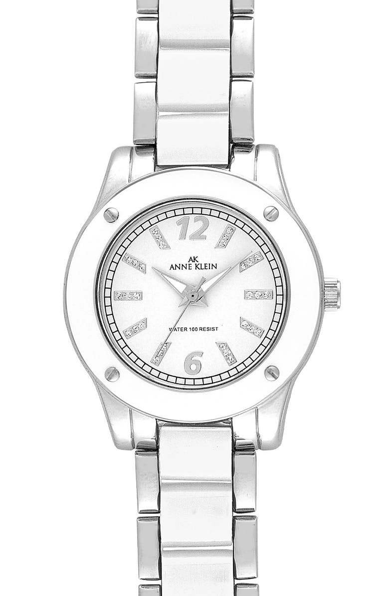 ANNE KLEIN Round Case Bracelet Watch, Main, color, 100