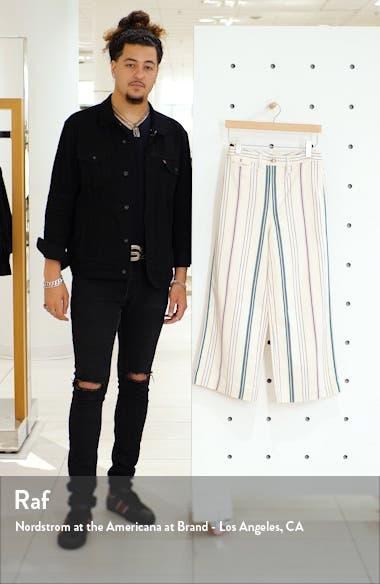 Emmett Stripe Wide Leg Crop Pants, sales video thumbnail
