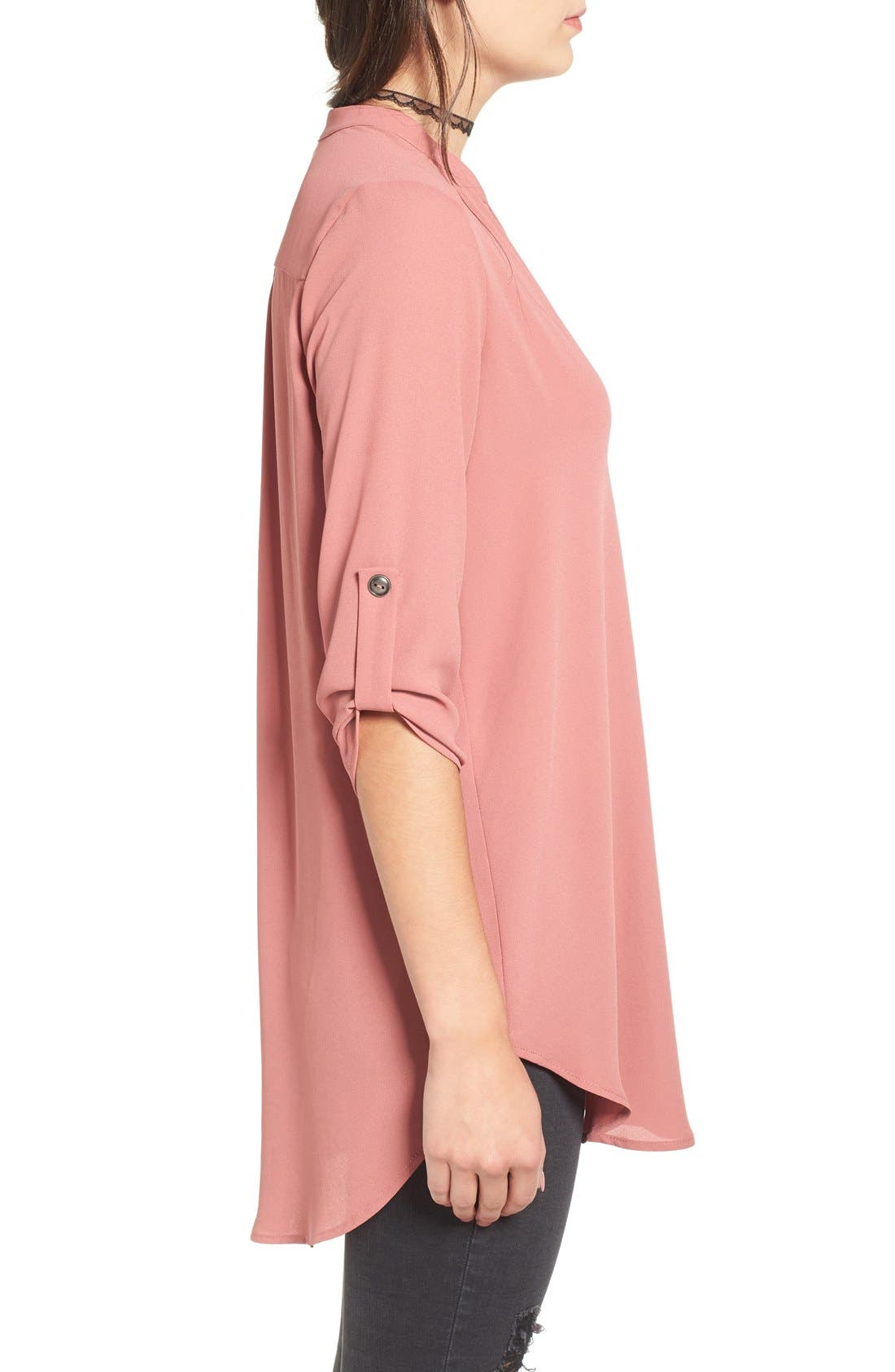 ,                             Perfect Roll Tab Sleeve Tunic,                             Alternate thumbnail 382, color,                             669