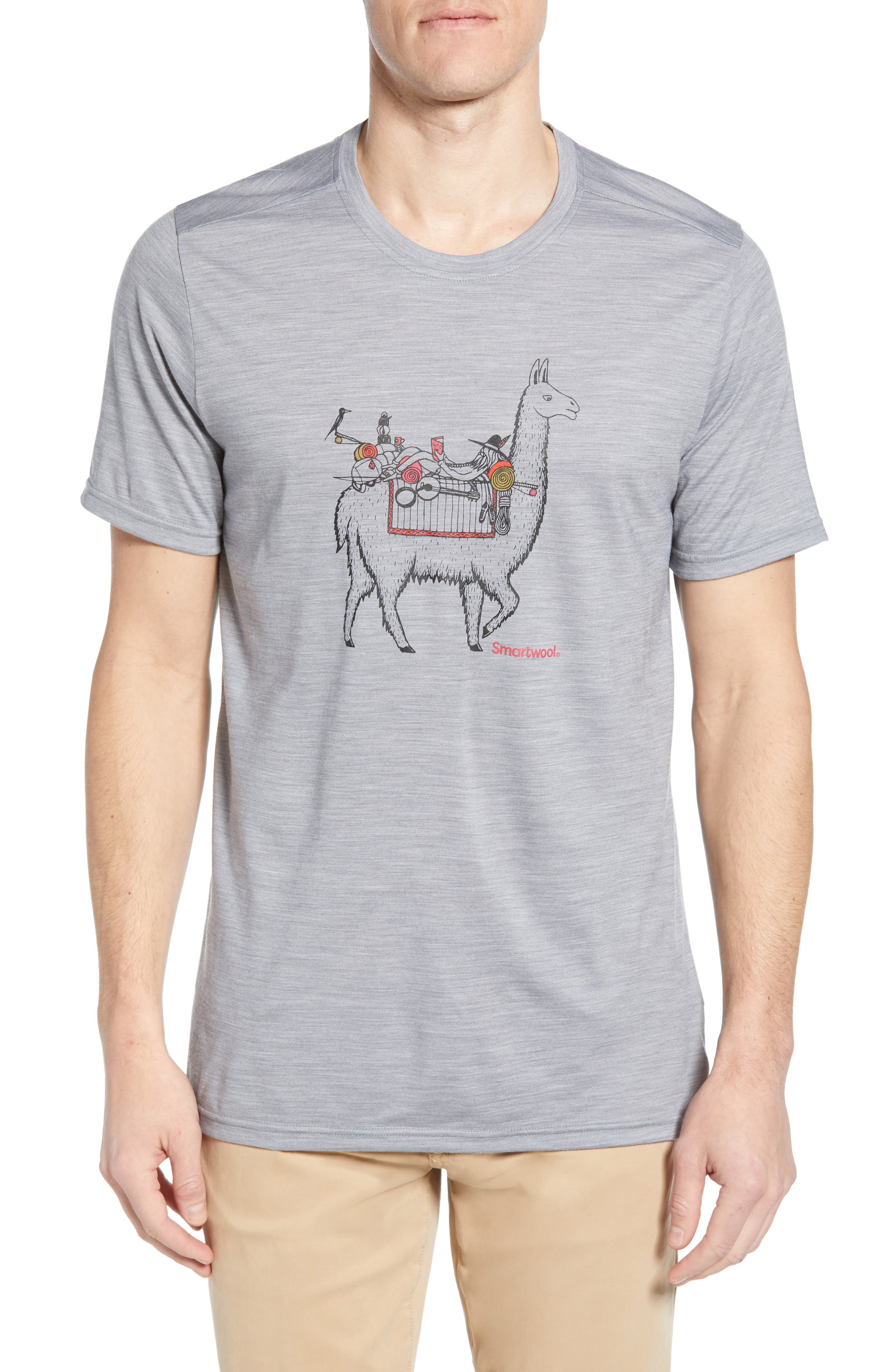 Smartwool Merino Llama Adventures T-Shirt, Grey