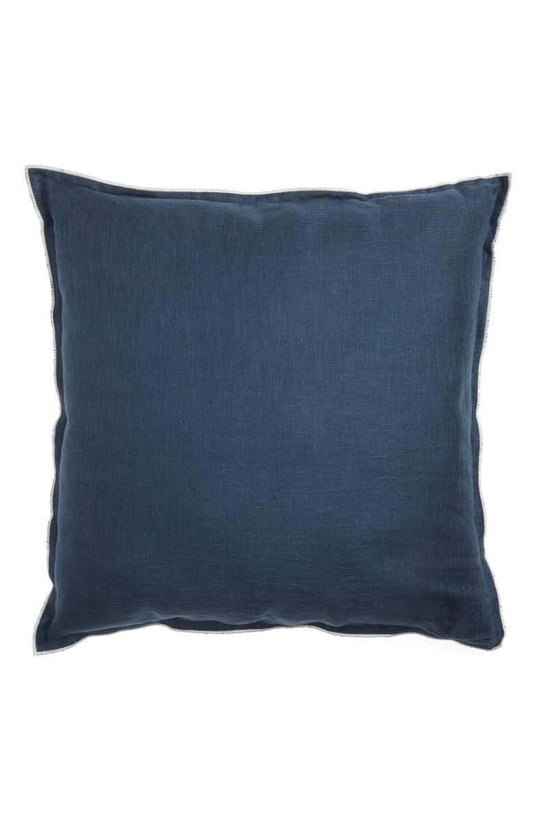 TREASURE & BOND Linen Accent Pillow, Main, color, NAVY MIDNIGHT