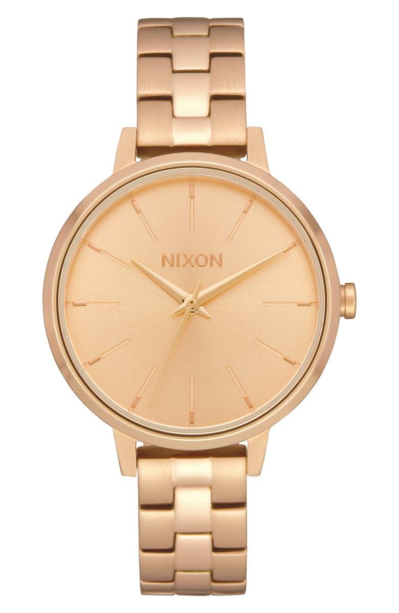 NIXON Medium Kensington Bracelet Watch, 32mm, Main, color, GOLD