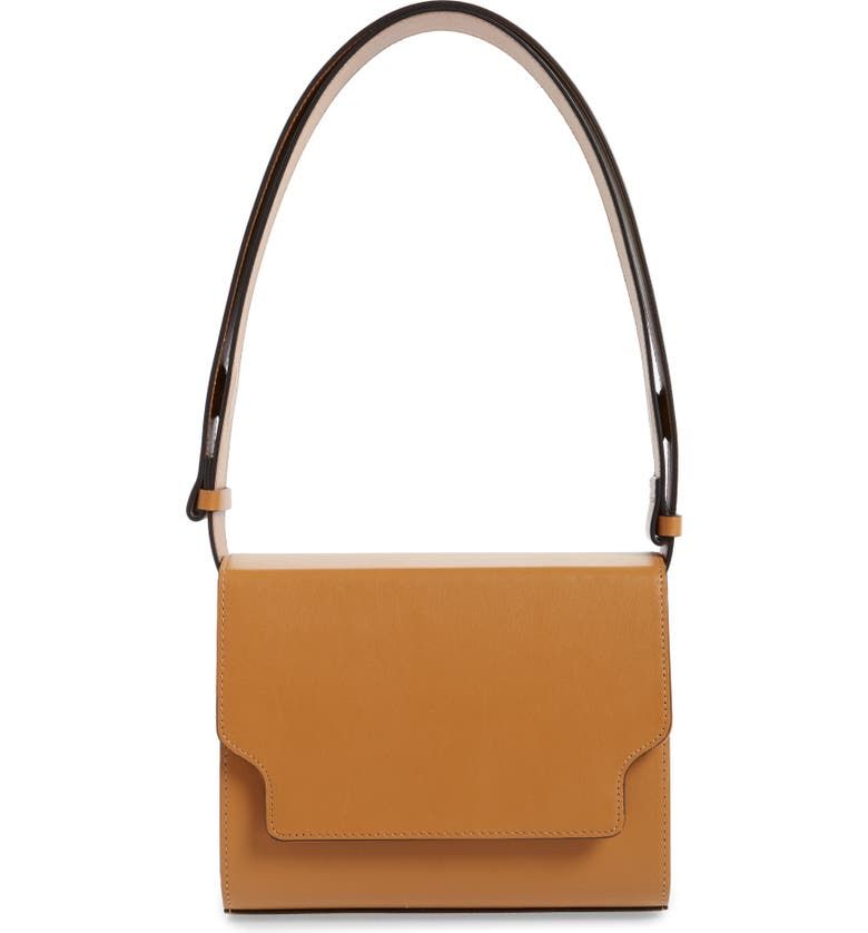 MARGE SHERWOOD Vava Leather Bag, Main, color, TAN PLAIN
