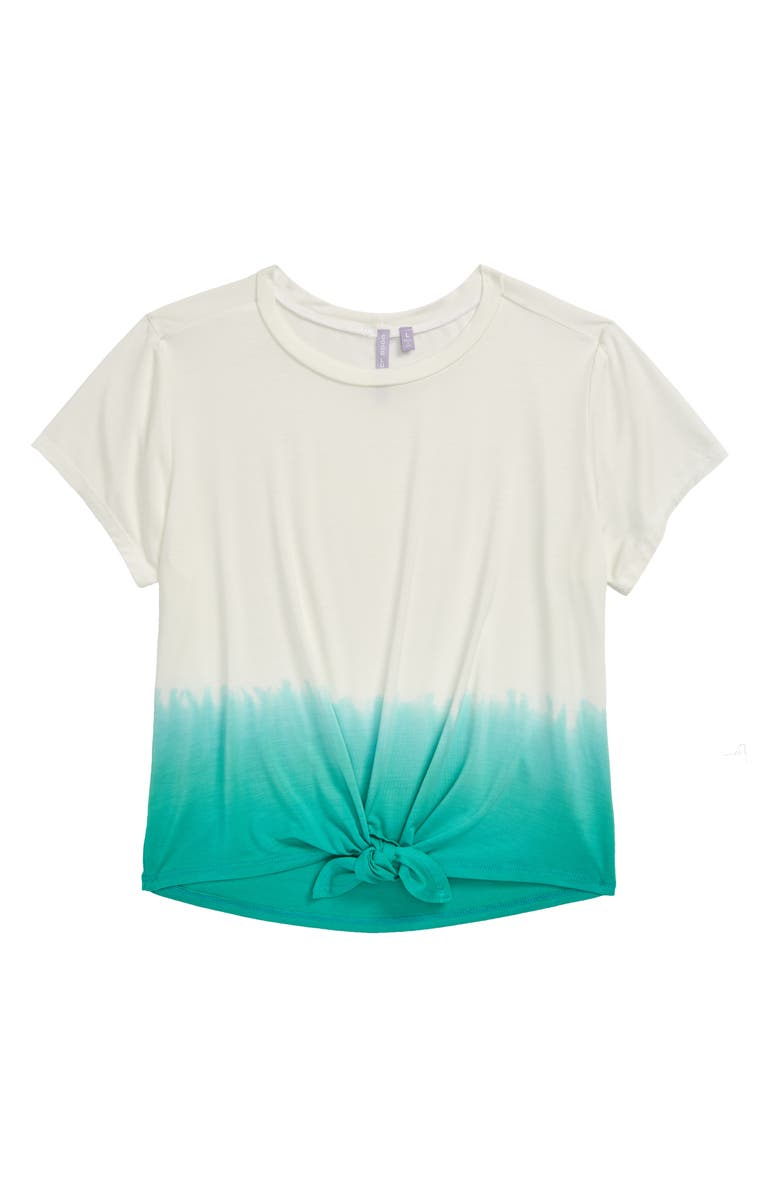 GOOD LUCK GIRL Dip Dyed Tee, Main, color, 100