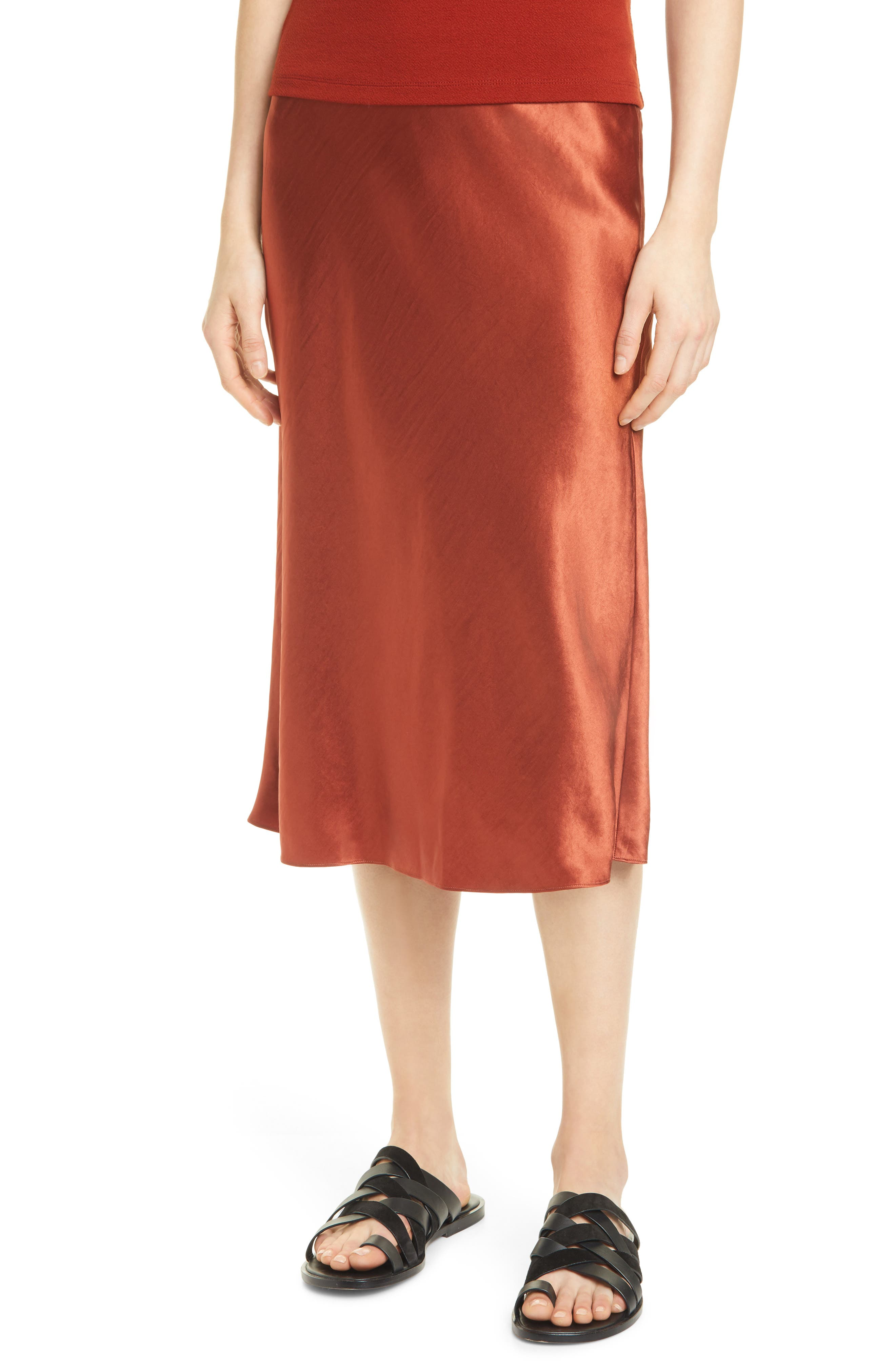 Image of Vince Satin Slip Skirt