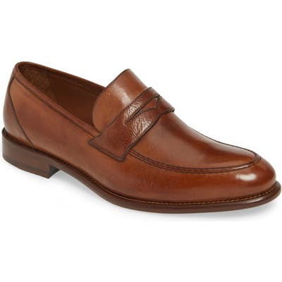 J & m 1850 Bryson Penny Loafer- Brown
