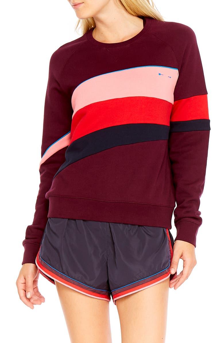 THE UPSIDE Maroon Retro Bondi Sweatshirt, Main, color, MAROON MULTI