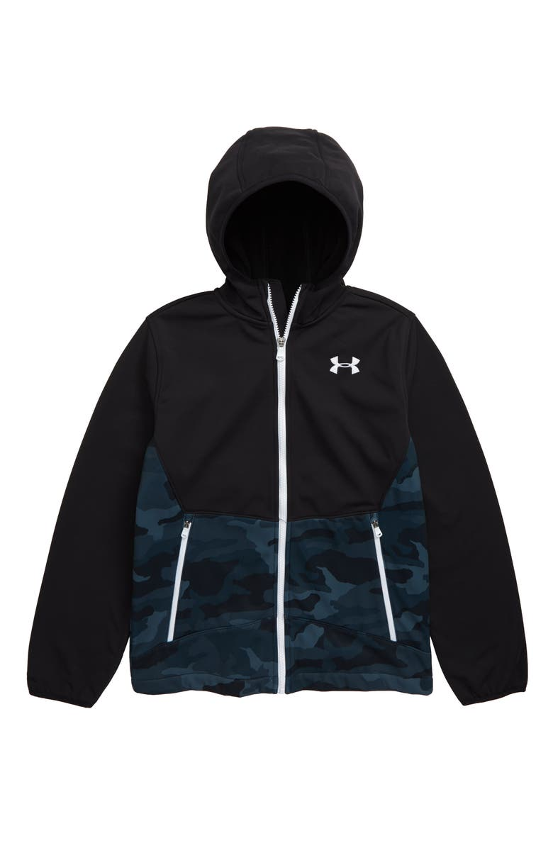 UNDER ARMOUR Storm ColdGear<sup>®</sup> Soft Shell Hooded Jacket, Main, color, BLACK