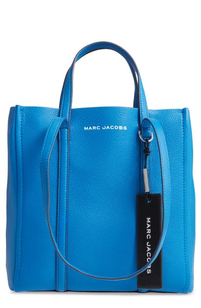 Marc Jacobs The Tag 27 Leather Tote In Evening Blue