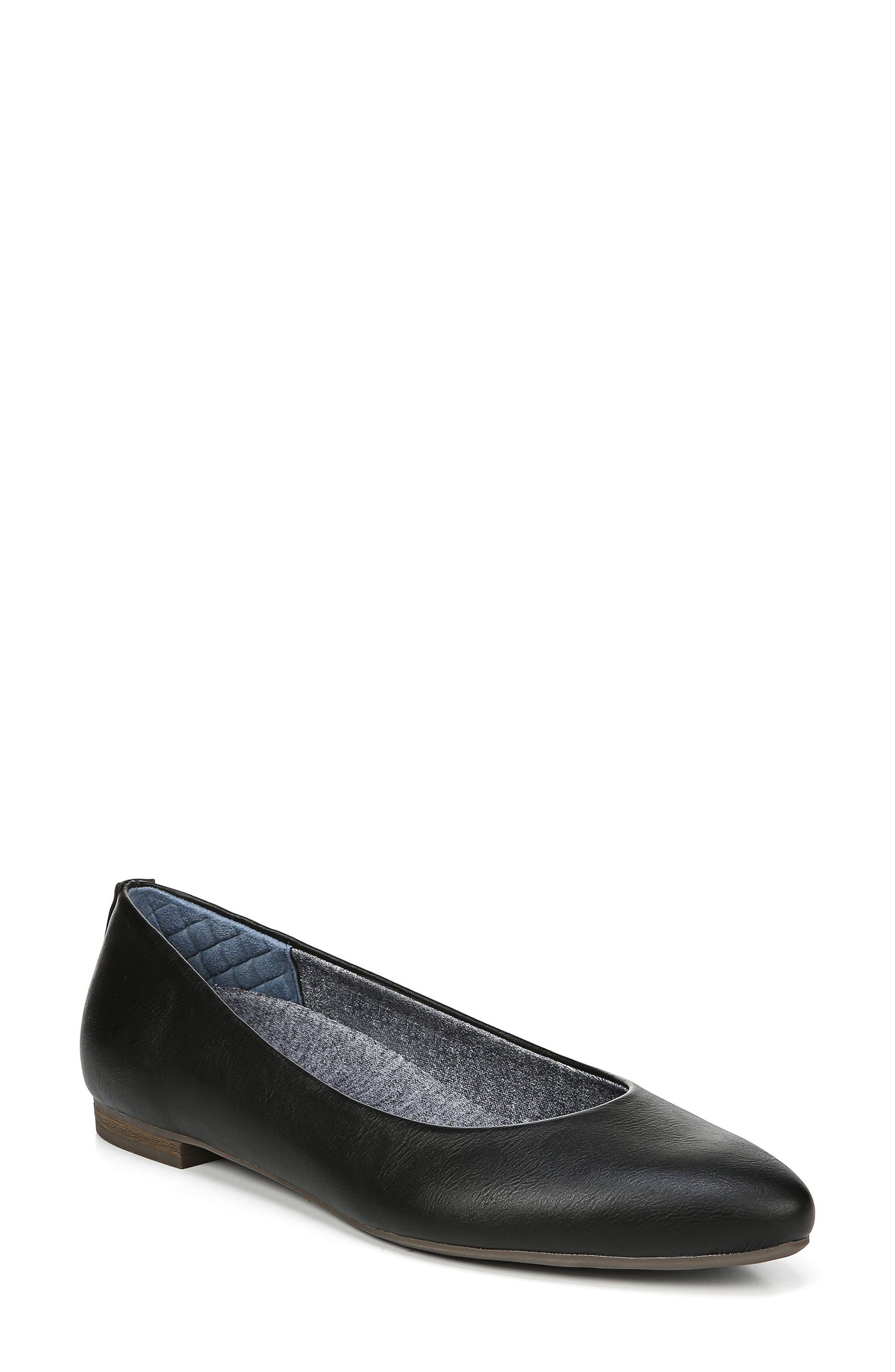 ,                             Aston Flat,                             Main thumbnail 1, color,                             BLACK FAUX LEATHER